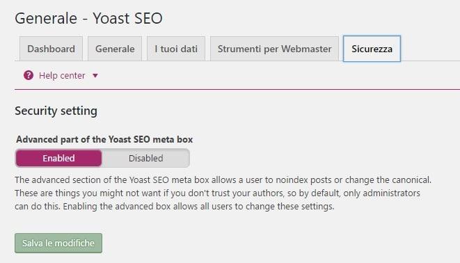 Sicurezza yoast seo plugin 3.4.2