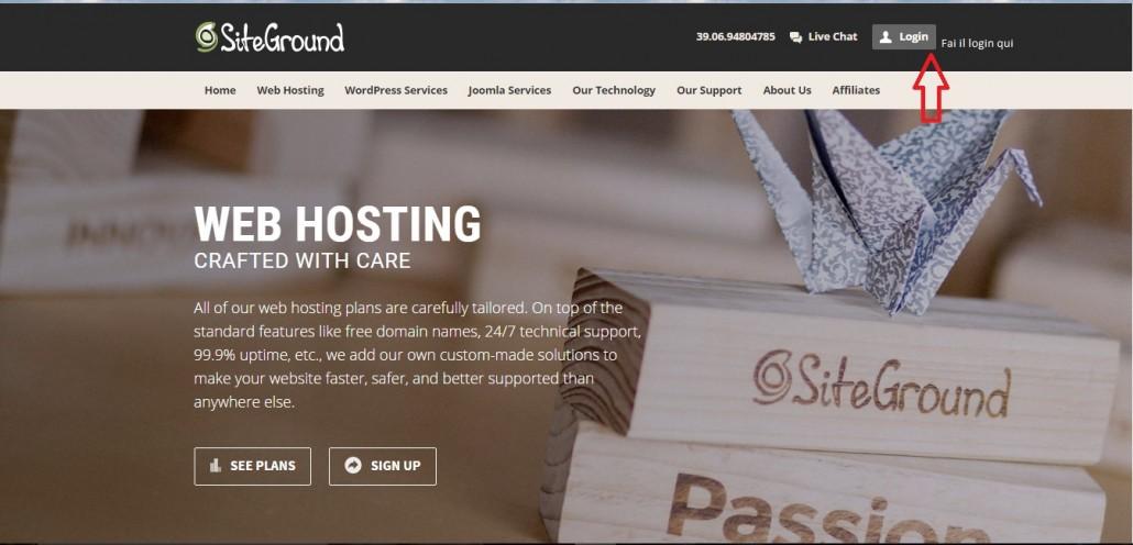 login siteground