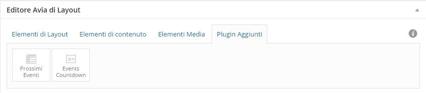 plugin aggiuntivi