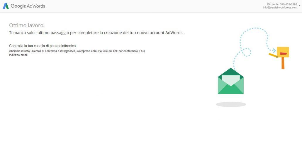 adword 5 conferma email