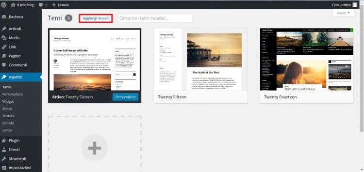 installare un tema wordpress