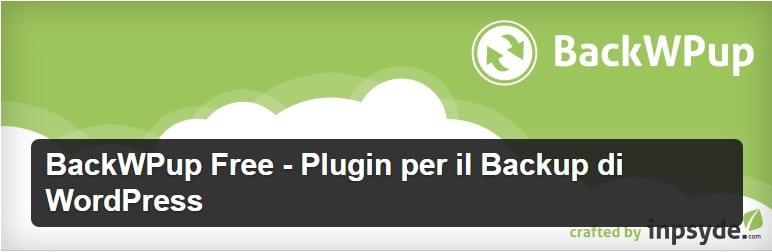 backwpup free plugin per il backup di wordpress