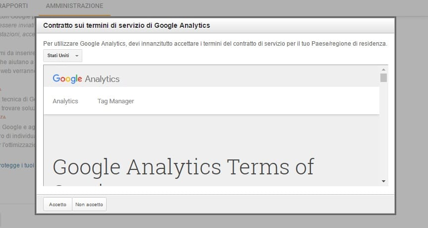 term conditions google analytics id