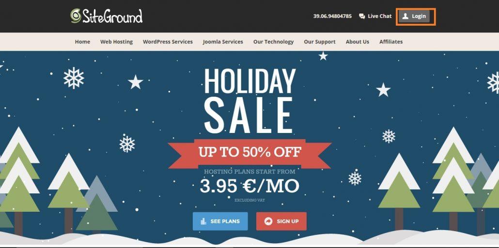 Installare WordPress SiteGround