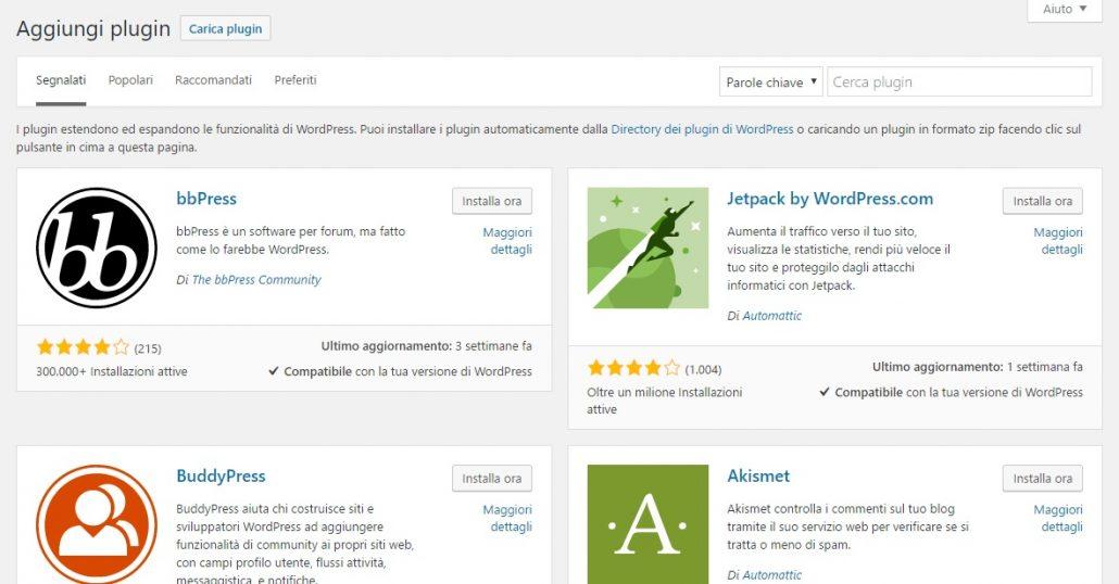 ricerca widget