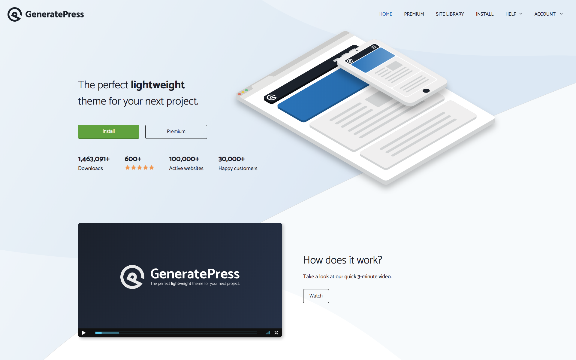 GeneratePress Home