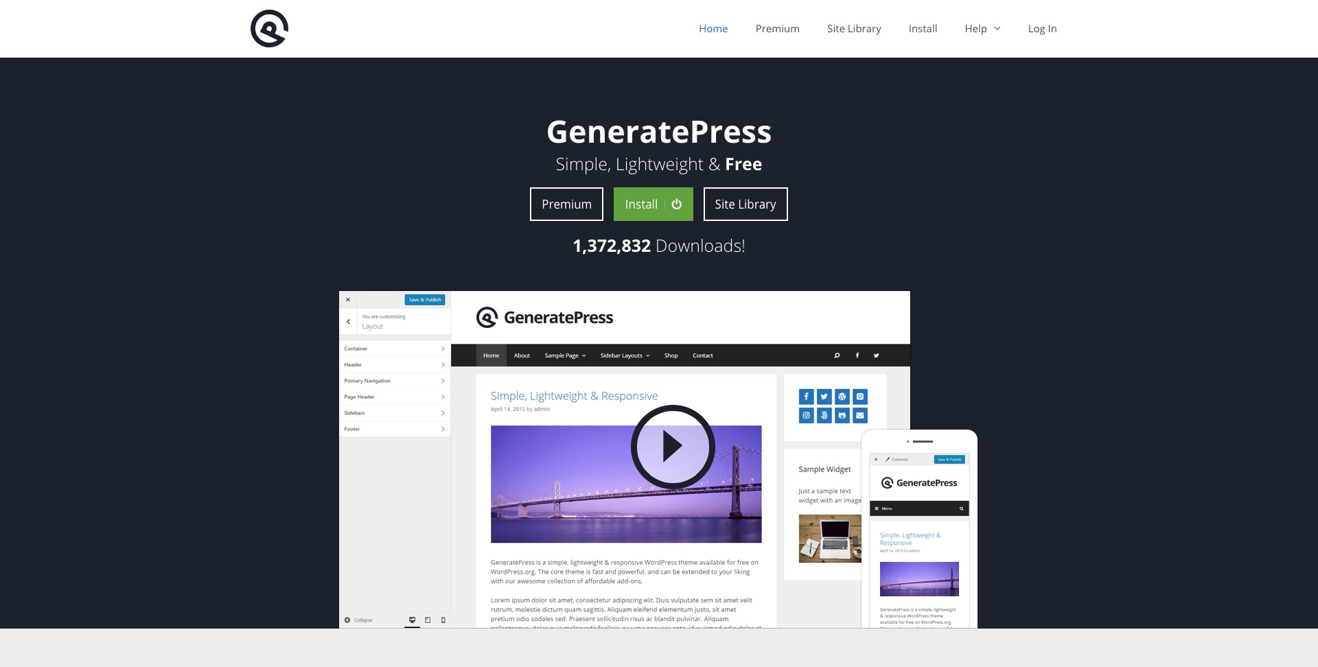 GeneratePress Tema WordPress