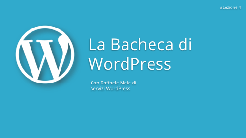 Corso WordPress Gratuito - Lezione 4