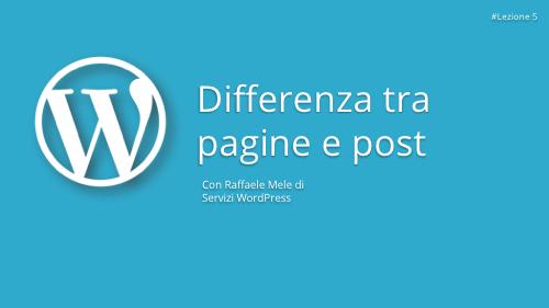 Corso WordPress Gratuito - Lezione 5