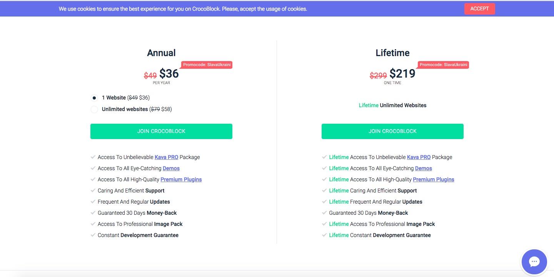 Crocoblock pricing