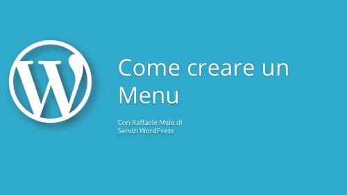 Come creare un menu WP