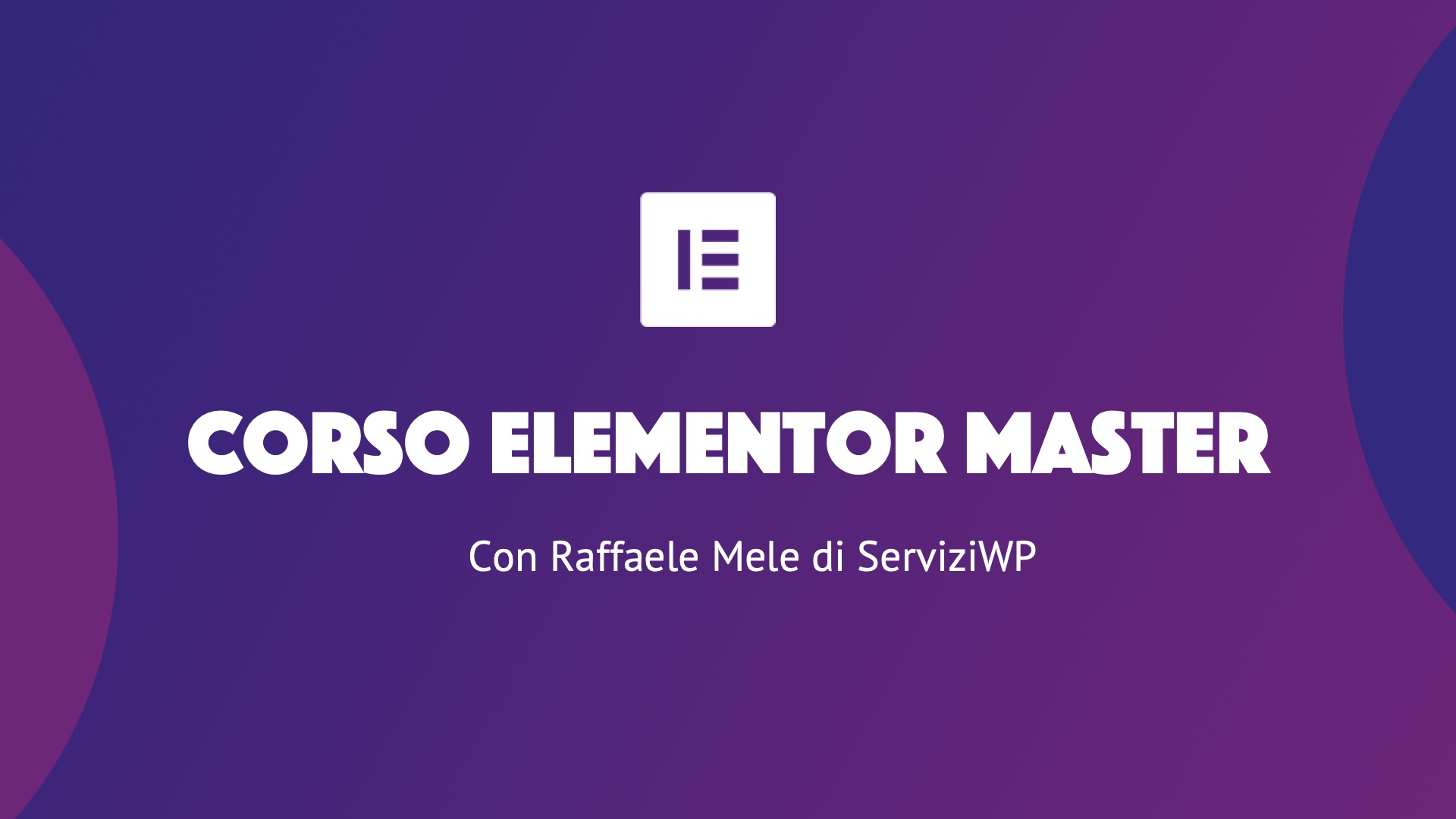 Corso Elementor Master new