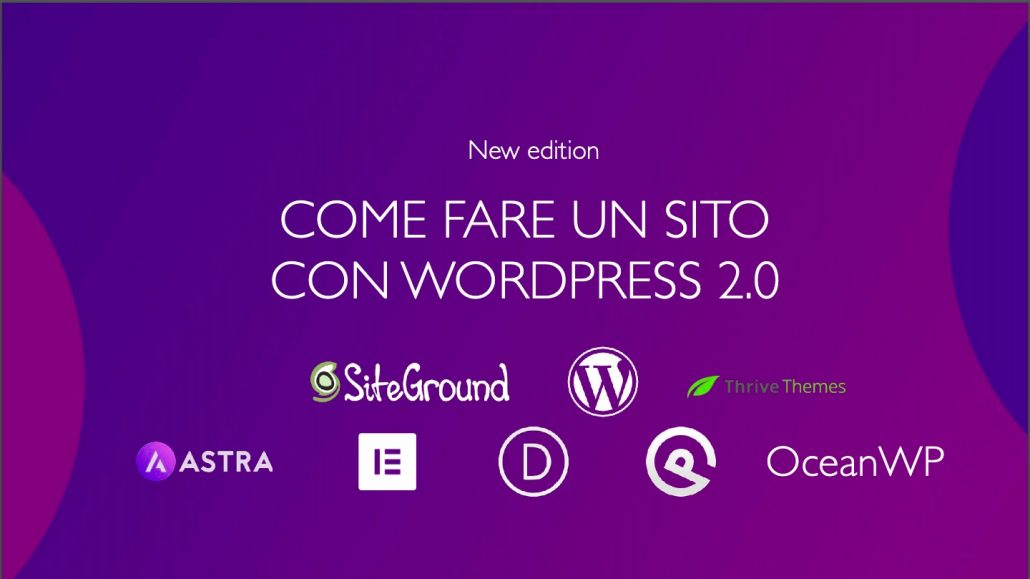 Come fare un sito con WP new Edition