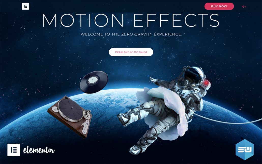 Elementor Motion Effects