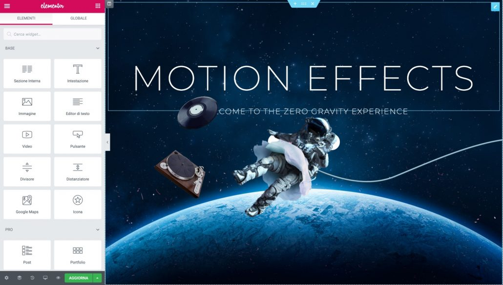 Hello Theme Motion Effects