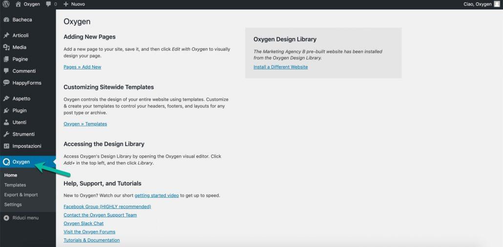 Oxygen page builder
