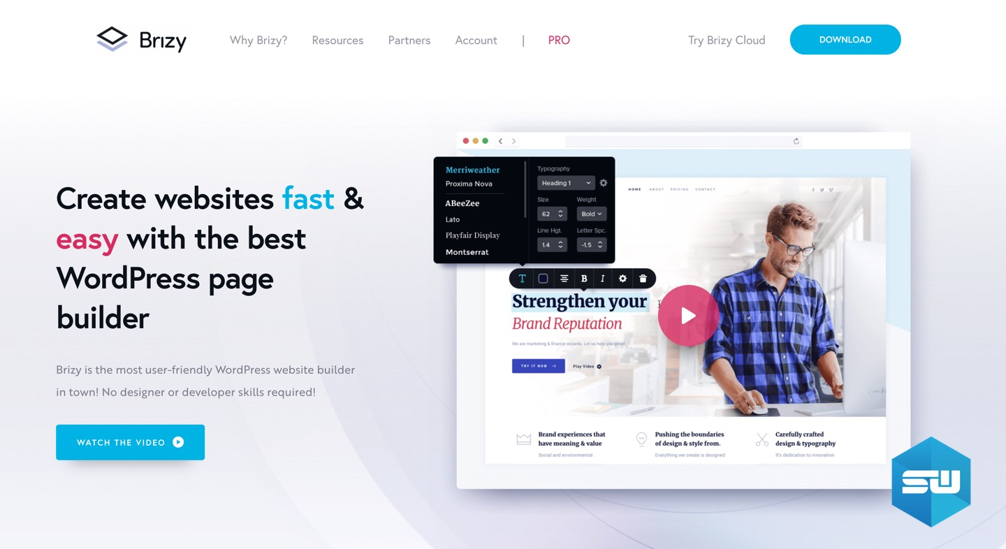 Brizy WordPress page builder