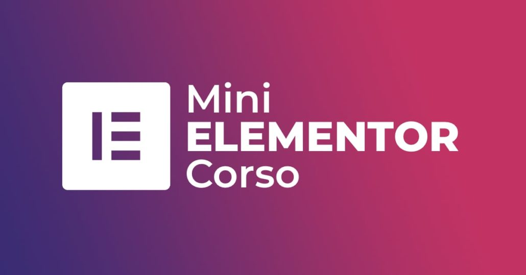 Mini Corso Elementor